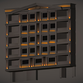Lighting Design for Kermanshah's  building facade