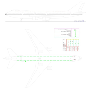drawing electrical installations for airplane